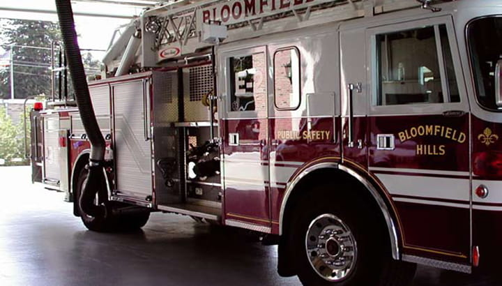 Fire and emergency vehicle exhaust system