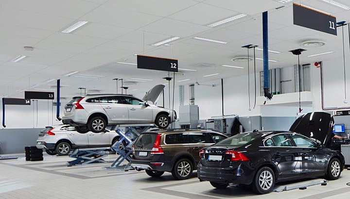 Vehicle Exhaust Extraction Modern Vehicle Workshop Nederman