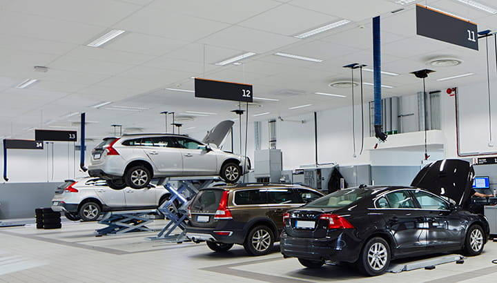 Vehicle Exhaust Extraction Modern Vehicle Workshop Nederman
