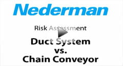 duct system vs chain conveyor