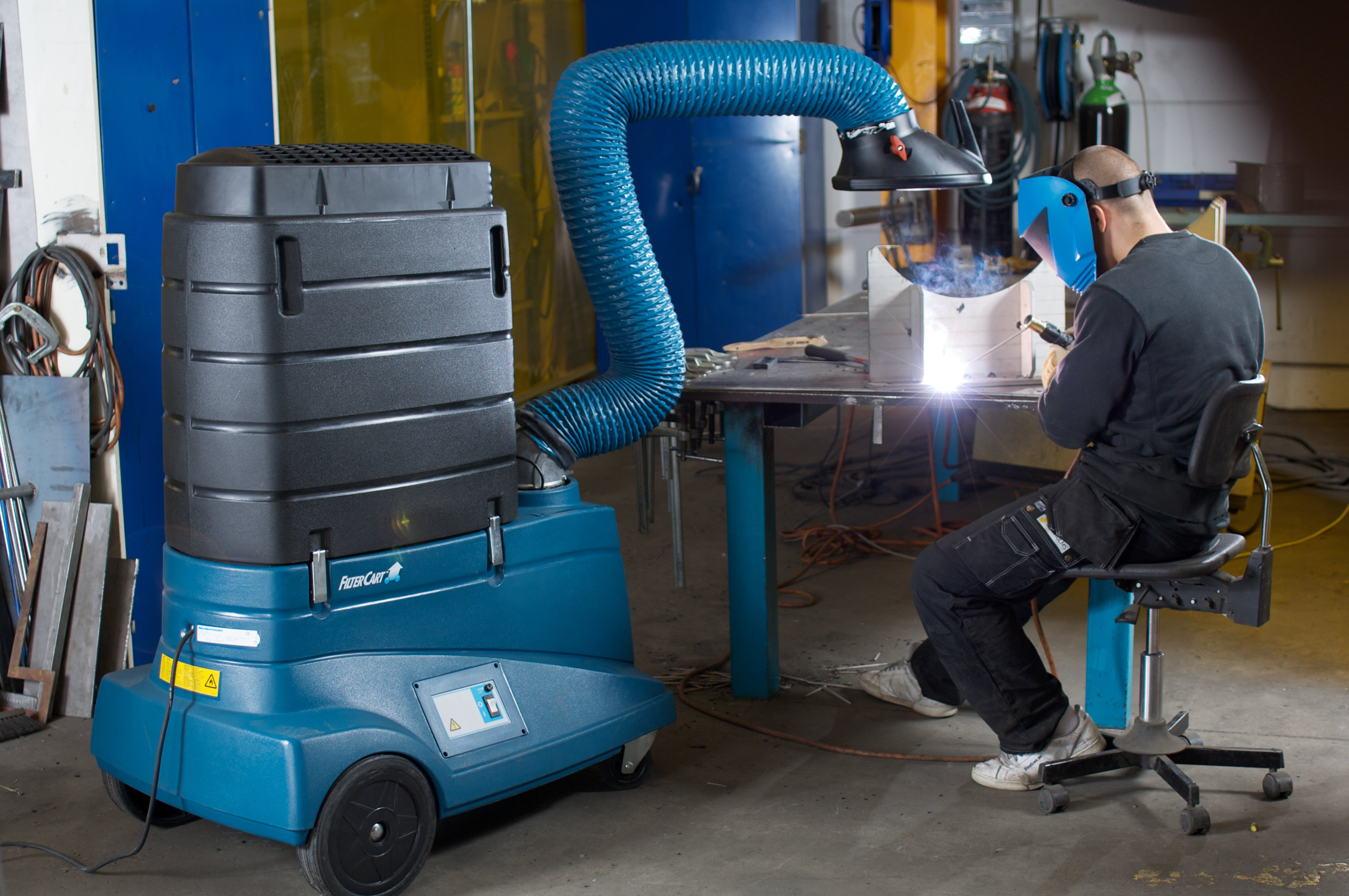 Welding Fume Extraction Systems : Filtercart w nederman